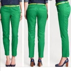 Kelly green Banana Republic Hampton Pants